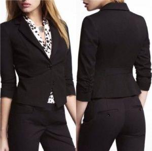 NWT Express Black Ruched Sleeve Blazer